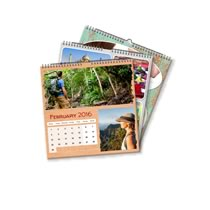 3 x 21cm x 21cm Personalised Desk Calendar incl Delivery