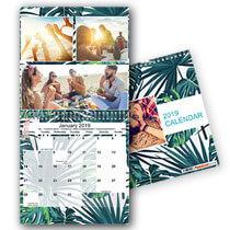 1 x 30cm x 30cm Double Personalised Calendar incl Delivery
